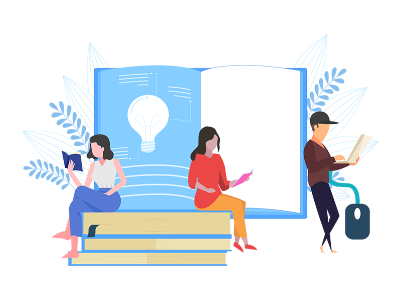 Online Study Concept