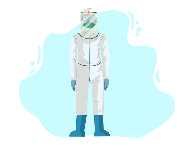 Doctor in Protective Suit
