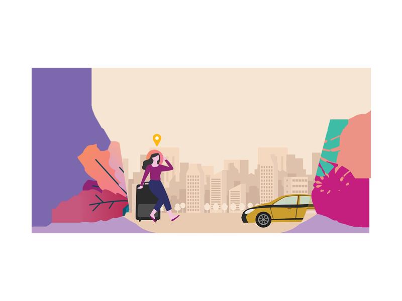 Tourist Calling Car